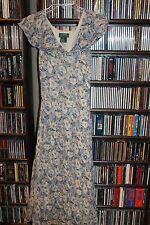 Lauren Ralph Lauren blue Floral Short Sleeve Dress Silk Ladies sz 10   (b70)