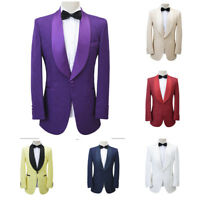 Men Jacquard Paisley Tuxedo Suit Blazer Wedding Prom Party Dinner Suit Jacket