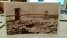 "Real Rotary Photo Postcard "" Brooklyn Bridge "" L Jonas Printed In England"
