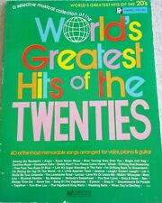 World's Greatest Hits of 1920's Variety Songs Voice Piano Guitar
