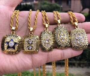 5pcs Dallas Cowboys American Football Team Ring Pendant Necklace Fan Men gift