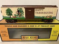 ✅MTH RAILKING HAPPY THANKSGIVING BOX CAR 30-74495! PUMPKIN TURKEY INDIAN O GAUGE