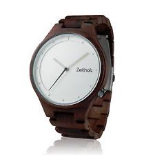 Holzuhr Armbanduhr Damen Herren Unisex Davos Walnuss Holz antiallergen leicht