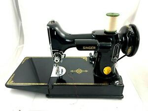 Singer Featherweight Sewing Machine 1949 Model with Case and accessories