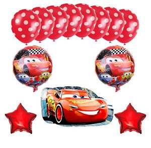 Cars McQueen Ballon-Set Party Birthday Party Kinder Geburtstag 13-tlg Helium