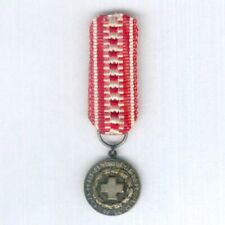 More details for finland. miniature red cross silver medal of merit, silver, pre-1970s version