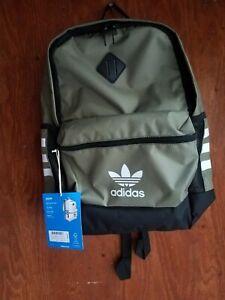 Adidas Original Base Backpack, One Size Free ship green white black