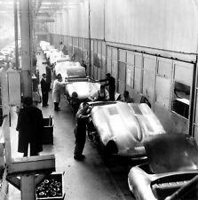 1961 Jaguar E-Type Production Line 8 x 8 photograph