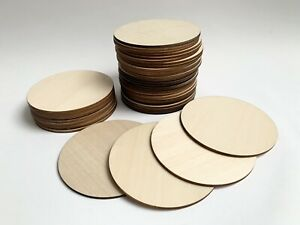 DIY Natural Blank Wood Plaques/disc Round Unfinished Craft Wooden Discs 10cmx3mm