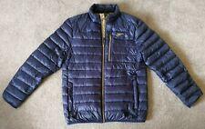 ARSENAL Football Club Blue Puffer Style Coat Jacket - GUNNERS - UK Size Medium