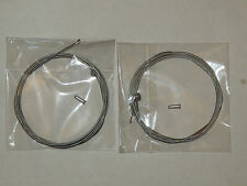 2X Bicycle Brake Cables With End Crimps 1.8m approx