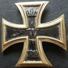 ✚8824✚ German WW1 Iron Cross First Class medal MAGNETIC CONVEX Eisernes Kreuz