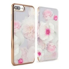 Ted Baker Maliboo iPhone 8 Plus Flowers Mirror Folio Cover Case, Light Grey