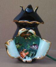 Lampe POISSONS CRABE LA NAPOULE style Vallauris vintage déco ancienne kitsch