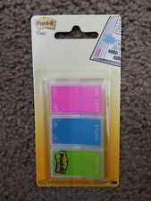 """Post-it® Flags Study Memo Page Flags with Message Assorted Bright Colors 1"""" 60"""