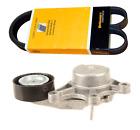 Drive Belt Tensioner with Pulley + Belt (Alternator - A/C) Original for BMW