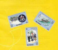 """TUVALU  1983 - postfrisch**MNH - MiNr. 194-196 = SPECIMEN  """"Boys Brigade"""""""