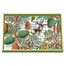 Michel Design Decoupage Wooden Vanity Tray 12x8in - Christmas Spruce WVTD257