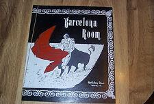 Barcelona Room Menu - Holiday Inn  Bristol PA c1970