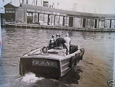 1955 New York NYC Harbor Israel Line Work Boat Photo