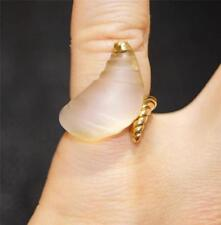 ILIAS LALAOUNIS, 18 carat Gold & Rock Crystal Shell Design Ring