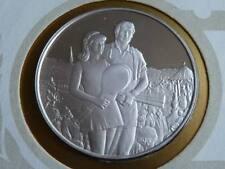 Lot 25 39mm silver proof  medal Wimbledon Tennis