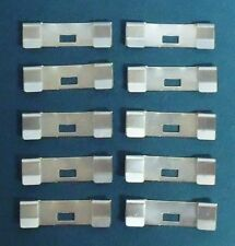 10 Pack VERTICAL BLIND Vane Saver ZINC CURVED REPAIR CLIPS ~ Fixes Broken Holes