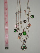 Betsey Johnson Frog Basket Charm Illusion Necklace $55 NWT *Authentic*