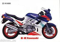 Kawasaki ZZ R 600 Prospekt 10/93 1993 brochure Broschüre Motorrad broschyr moto