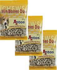 Antos Mini Bones Dog Training Treats ~ 3 x 200g Bags ~ Lamb Flavour
