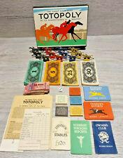Vintage Totopoly Board Game Horse Racing Waddingtons 1949 Edition No Board