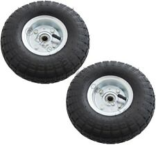 """2 X 10"""" pouces Pneumatique Chariot Roue panier Barrow Truck Sack pneu Kart Pneu"""