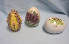 (3) Decorative Collectible Easter Eggs for your Easter Home Decor ~Spring Decor