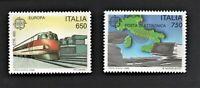 francobollo repubblica italiana 1988 ** europa 33° emissione serie 2 valori nuov