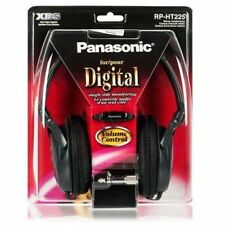 Original Panasonic RP-HT225E-K Monitor Headphones with XBS bass-rich  - Black