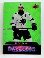 Brent Burns Upper Deck Dazzlers Green 2020-21 Upper Deck Series 2 San Jose Shark