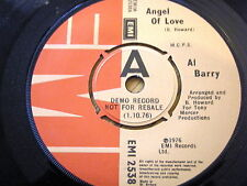 "AL BARRY - ANGEL OF LOVE  7"" VINYL DEMO"
