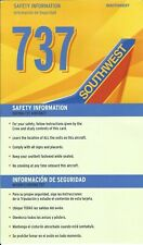 Safety Card - Southwest - B737 Aircraft - 2009 (S4072)