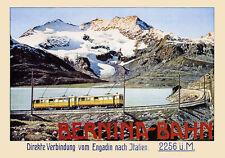 Bernina Bahn Engadin Italien Gebirgsbahn Schweiz Berninapass Plakate A2 264