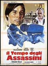 IL TEMPO DEGLI ASSASSINI MANIFESTO CINEMA JOE DALLESANDRO 1975 MOVIE POSTER 2F