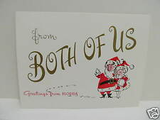 """Vtg.Unused Retro Christmas Card:""""from Both of Us Greetings from Florida""""/Dan Ray"""