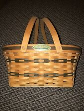 Longaberger Basket Traditions Collection 1996 Edition Community Green Metal Tag