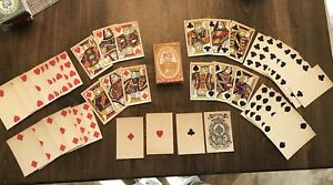 Full Deck Antique Playing Cards 1880 Old West Post Civil War Great Mogul Rare!