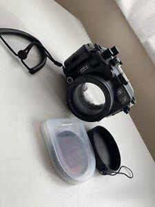 Meikon Puluz Underwater Camera Housing For Canon G7x Mark II Excellent Condition