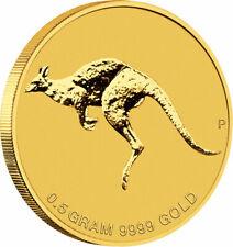 2010 - Australia - $2 - .9999 Gold Kangaroo -  0.5 g 1/2 Gram - BU In Capsule