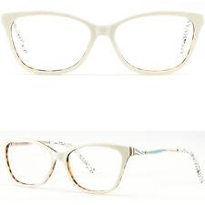 Square Damen Brille Plastik Fassung Gestell Eckig Brillenfassung Federbügel Weiß