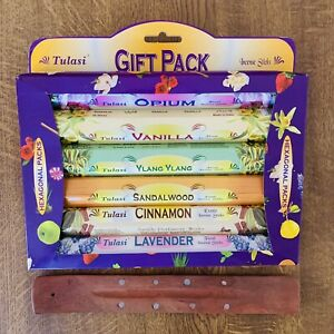 Tulasi  Gift Pack - 6 Fragrances - Incense With Holder