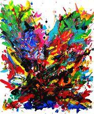 tableau KSPERSEE peinture mixed abstrait toile chassis arbre signe coté drouot