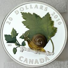 2016 $20 Venetian Glass Snail 1 oz 99.99% Pure Silver Color Proof Murano Glass