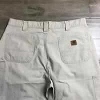 Carhartt Men's Dungaree Fit Cotton Carpenter Pants Size 38x30 tan #14808